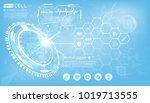 scientific healthcare vector...   Shutterstock .eps vector #1019713555