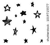 modern geometric star pattern.... | Shutterstock .eps vector #1019715577