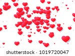 red and pink heart. valentine's ... | Shutterstock . vector #1019720047