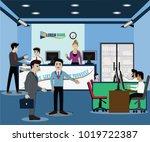business finance concept... | Shutterstock .eps vector #1019722387