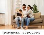 family  technology  parenthood...   Shutterstock . vector #1019722447