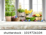 table background and easter... | Shutterstock . vector #1019726104