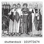 byzantine emperor justinian i... | Shutterstock .eps vector #101972674
