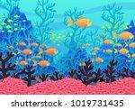 underwater nature background.... | Shutterstock .eps vector #1019731435