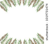 watercolor branches for a... | Shutterstock . vector #1019731474