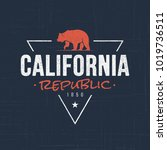 california republic. t shirt... | Shutterstock .eps vector #1019736511