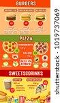 fast food lunch menu banner... | Shutterstock .eps vector #1019737069