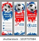 football sport game banner set... | Shutterstock .eps vector #1019737084