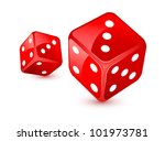 red dices   Shutterstock . vector #101973781