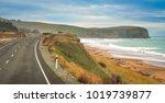 empty road along new zealand... | Shutterstock . vector #1019739877