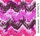 grunge chevron vector pattern... | Shutterstock .eps vector #1019740171
