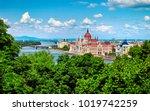 hungarian parliament building... | Shutterstock . vector #1019742259