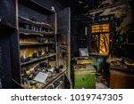 Burnt House Interior. Burned...