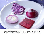 violet cabbage  onions and red...
