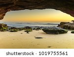 Sunrise Seascape From A Cave  ...
