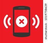 white cross icon on smartphone... | Shutterstock .eps vector #1019758639