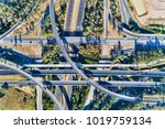 aerial top down view on massive ... | Shutterstock . vector #1019759134