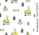beautiful seamless pattern with ... | Shutterstock .eps vector #1019759371