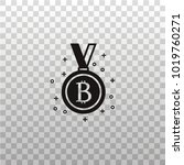 bit coin cryptocurrency medal...