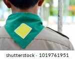 green background and yellow... | Shutterstock . vector #1019761951