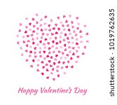 love heart silhouette from... | Shutterstock . vector #1019762635