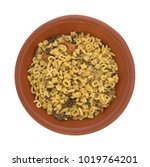 top view of a small bowl with... | Shutterstock . vector #1019764201
