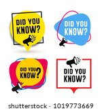 set of did you know. badge with ... | Shutterstock .eps vector #1019773669
