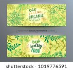 vector templates with floral... | Shutterstock .eps vector #1019776591