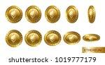 ethereum. set of realistic 3d... | Shutterstock .eps vector #1019777179