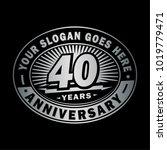 40 years anniversary.... | Shutterstock .eps vector #1019779471