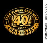 40 years anniversary.... | Shutterstock .eps vector #1019779477