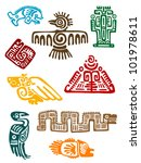 ancient maya monsters set of... | Shutterstock .eps vector #101978611