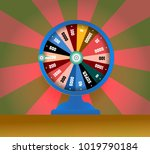 spinning fortune wheel  lucky... | Shutterstock .eps vector #1019790184