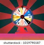 spinning fortune wheel  lucky... | Shutterstock .eps vector #1019790187