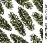 watercolor seamless pattern... | Shutterstock .eps vector #1019792134