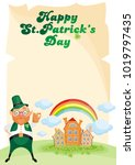 saint patrick s day background... | Shutterstock .eps vector #1019797435