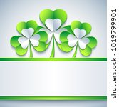 stylish abstract st. patrick's... | Shutterstock . vector #1019799901