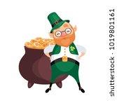 image of a leprechaun in... | Shutterstock .eps vector #1019801161