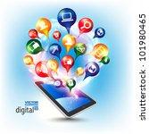 conceptual social networking... | Shutterstock .eps vector #101980465