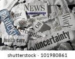 various newspaper headlines...   Shutterstock . vector #101980861