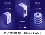 set of 3 headers with server... | Shutterstock .eps vector #1019811277