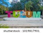 tulum  mexico   january 10 ... | Shutterstock . vector #1019817901