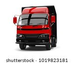 red and black small box truck   ... | Shutterstock . vector #1019823181