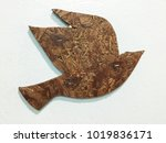 old wooden carved birds... | Shutterstock . vector #1019836171
