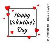 happy valentines day design... | Shutterstock .eps vector #1019841394