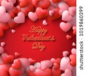 vector valentine and hearts... | Shutterstock .eps vector #1019860399