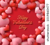 vector valentine and hearts... | Shutterstock .eps vector #1019860477