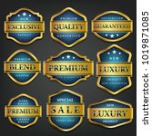 luxury premium golden labels... | Shutterstock .eps vector #1019871085