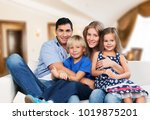 father  mother and children | Shutterstock . vector #1019875201