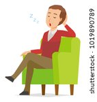 a middle aged man wearing a... | Shutterstock .eps vector #1019890789